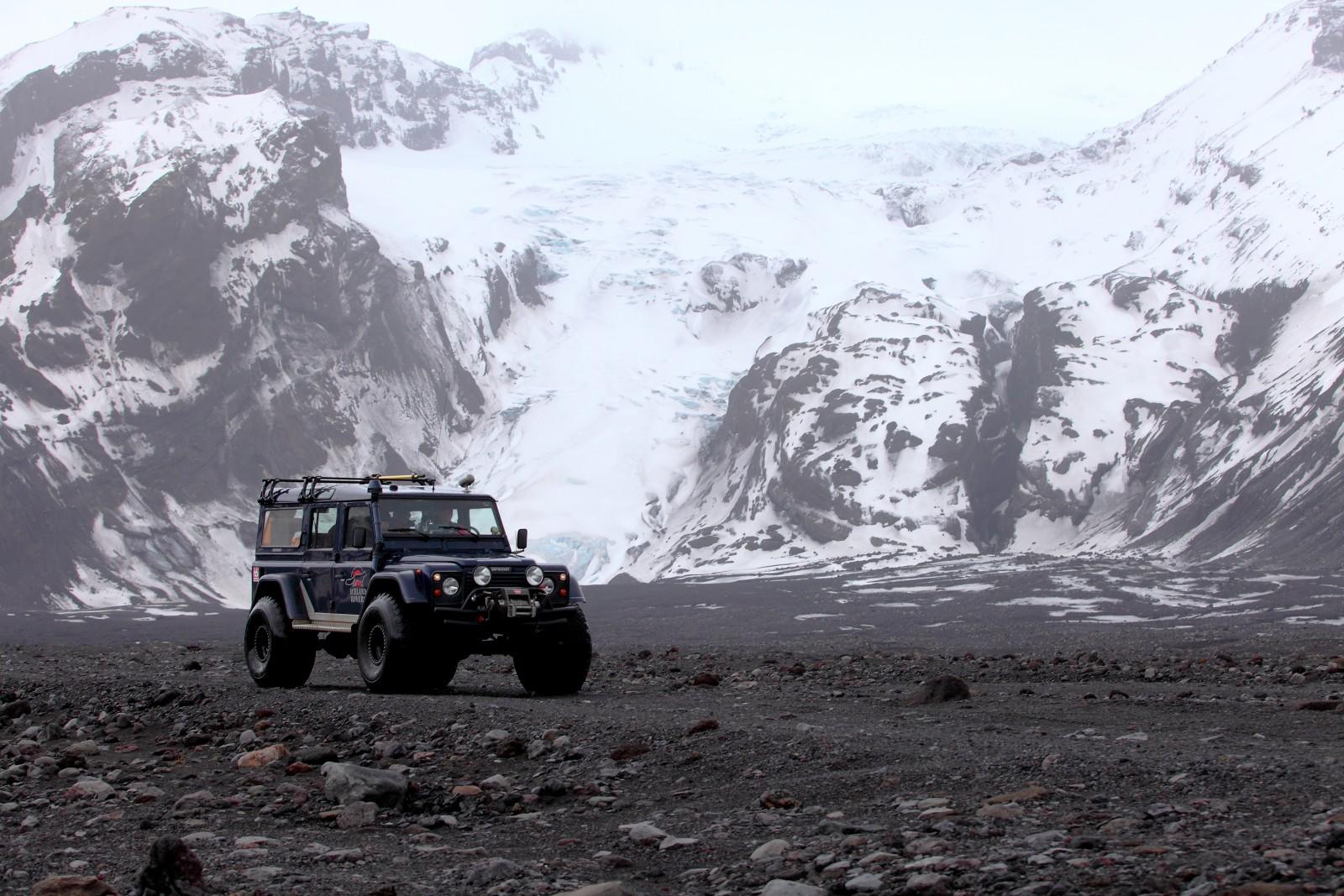 En 4x4 au pied de Eyjafjallajökull