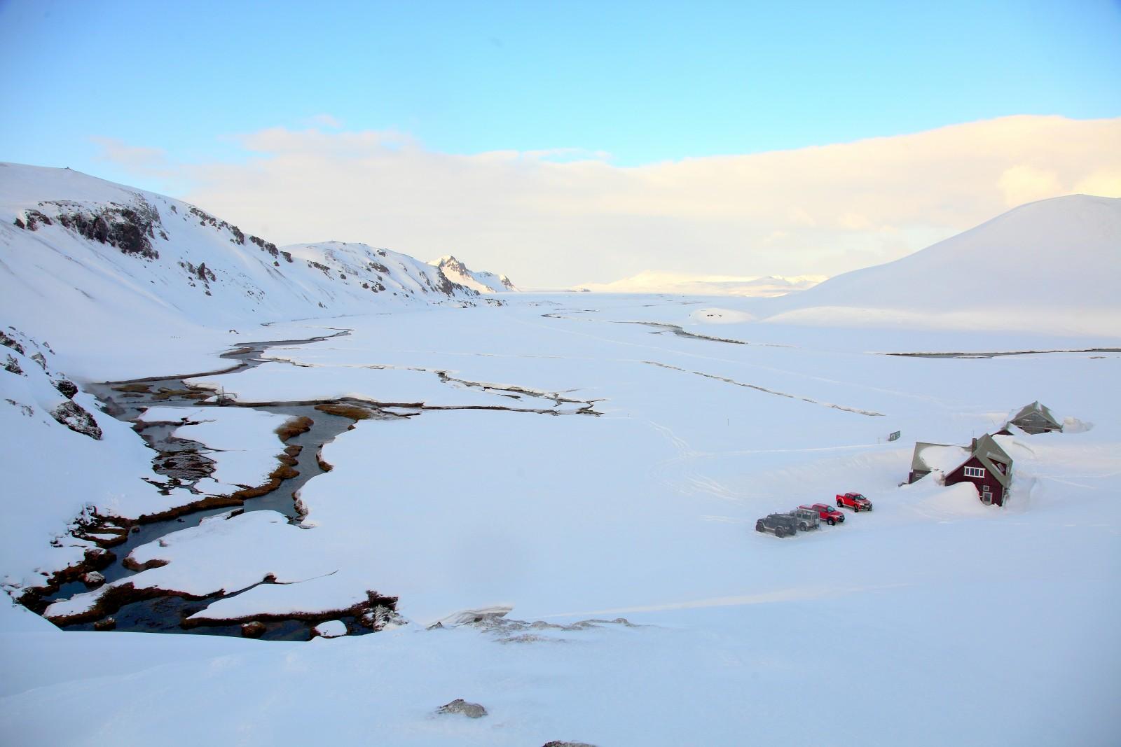 Landmannalaugar en hiver